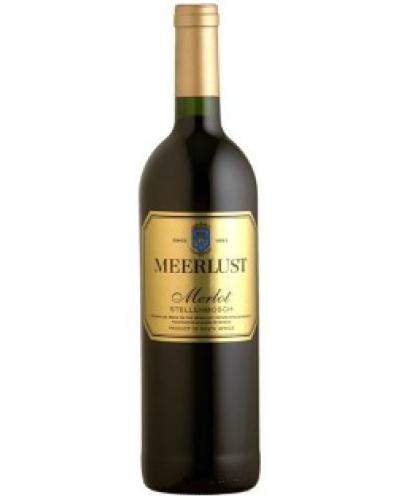 Meerlust Merlot 2016 wine bottle shot