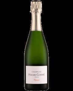 Hugues Godme Brut Reserve 1er Cru NV wine bottle shot